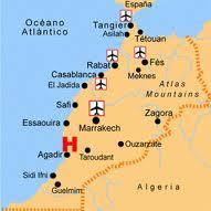 Mapa De Marruecos Ciudades.Agadir Ecured