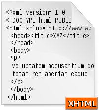 Extensible HyperText Markup Language XHTML.png