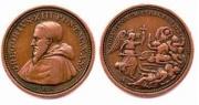 Medalla conmemorativa de la matanza de San Bartolomé, acuñada por Gregorio XIII