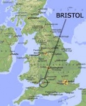 Ciudades De Inglaterra Mapa.Bristol Ecured
