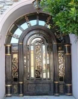 Hierro forjado ecured for Puertas de hierro forjado modernas para casas