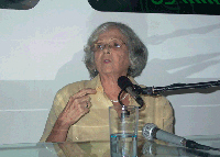 Marta Valdés en el espacio Encuentro en la Feria Arte en la Rampa.