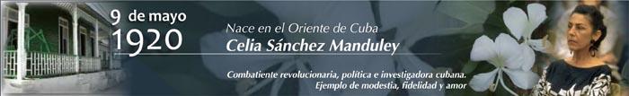 Comemorativo de Ecured al natalicio de Celia Sánchez.