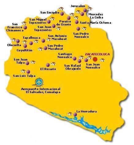 Departamento De La Paz El Salvador Ecured