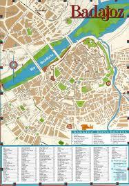 Mapa De Badajoz Capital.Badajoz Espana Ecured