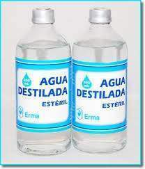 agua destilada ecured