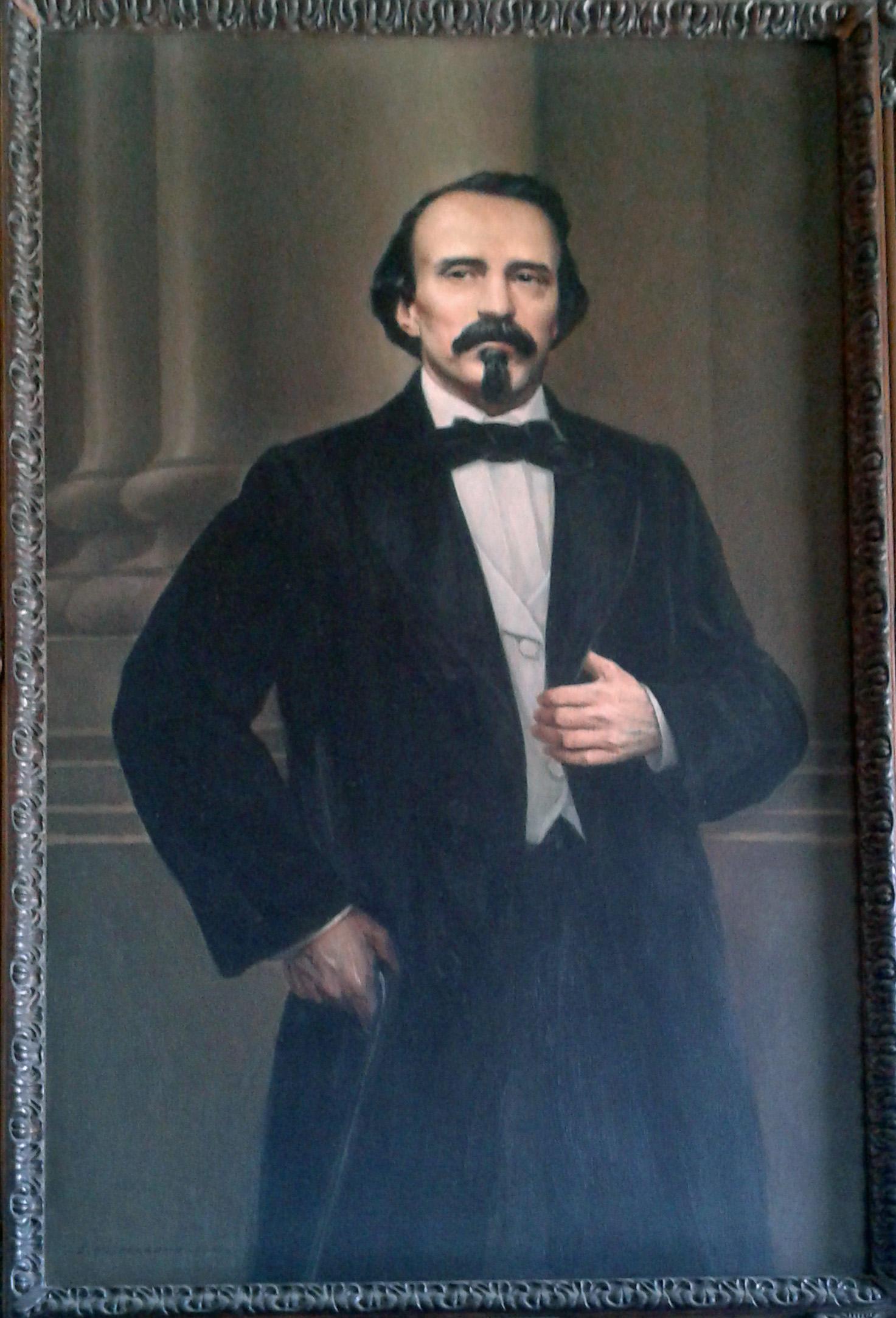 Retrato de Carlos Manuel de Céspedes en el Museo de la Revolución, La Habana, Cuba.