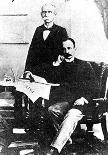 José Martí y Máximo Gómez El 14 de marzo aparece el primer número de Periódico Patria, vocero de la emigración, con el propósito de intensificar la campaña de propaganda a favor de la independencia. Sobre el nacimiento del periódico escribe: