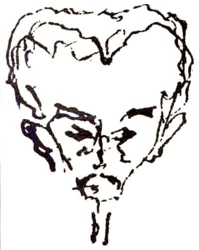 Caricatura hecha por MartíImparte clases de Gramática francesa y Literatura en el colegio de Santa María, que dirige Agustín Aveledo y posteriormente se desempeña como profesor de literatura en el Colegio Villegas, donde establece la cátedra oratoria.