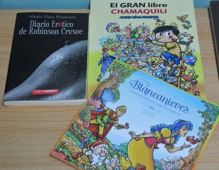 Portadas de varios libros de Alexis Díaz-Pimienta presentes en la 27 Feria del Libro de La Habana.