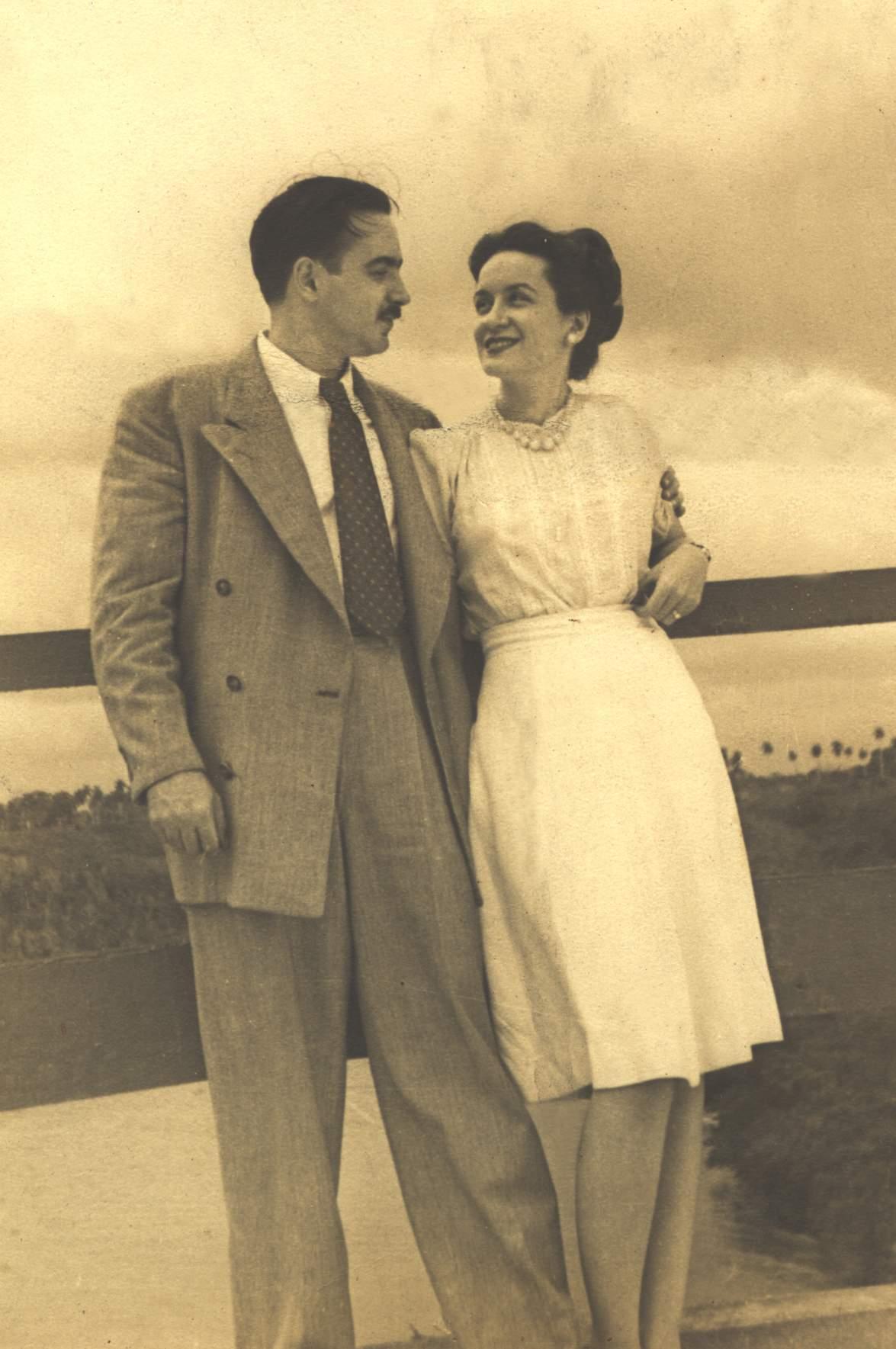 Eliseo Diego junto a su esposa Bella García-Marruz