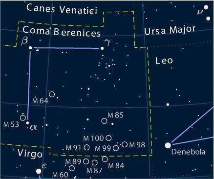Coma Berenices (constelación) - EcuRed