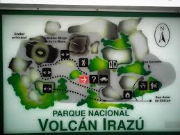 b7d434499c1 Mapa del Parque Nacional de Volcán Irazú