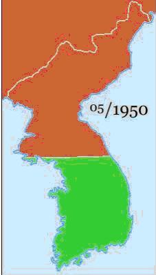 Mapa Guerra De Corea.Guerra De Corea 1950 1953 Ecured