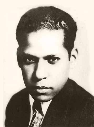 Nicolás Guillén durante su juventud.