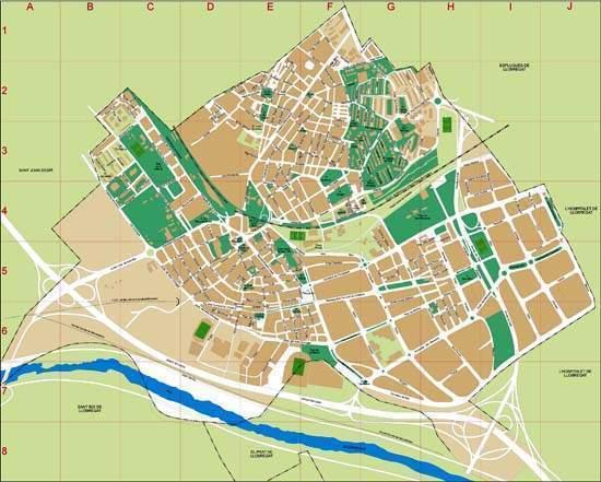 Cornella De Llobregat Mapa.Cornella De Llobregat Ecured