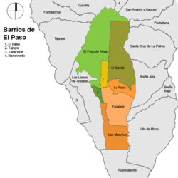 Mapa De La Palma Por Municipios.El Paso La Palma Ecured