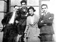 Villena, Juan Marinello y otros compañeros en la Universidad de La Habana