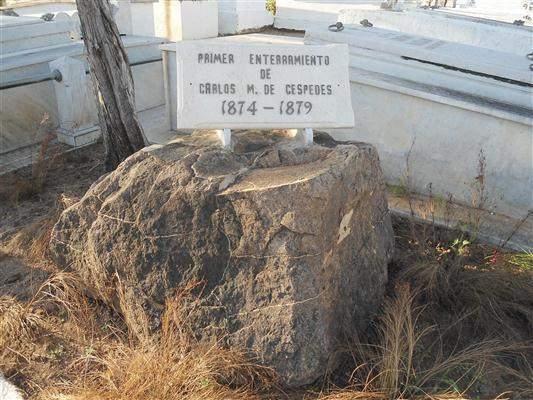 Lugar donde estuvo enterrado Carlos Manuel de Céspedes por vez primera entre los años 1874-1879.