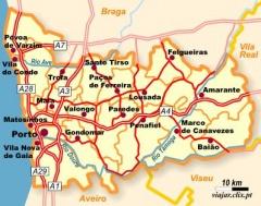 Oporto En El Mapa.Oporto Portugal Ecured