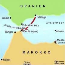 Mapa Marruecos Ceuta Y Melilla.Ceuta Espana Ecured