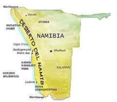Desierto De Kalahari Mapa.Desierto De Namibia Ecured