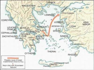 Donde Estaba Troya Mapa.Guerra De Troya Ecured