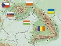 Montes Balcanes Mapa Geografico.Montes Carpatos Ecured