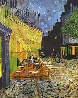 Terraza De Café Por La Noche Ecured