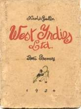 Portada de 1934 del poemario West Indies, Ltd..