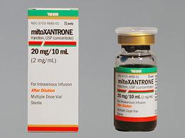 Resultado de imagen de mitoxantrona