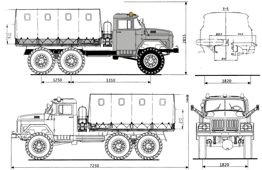 ancho de un camion