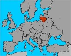 lituania mapa europa Lituania   EcuRed lituania mapa europa