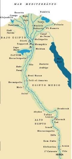 Mapa Del Antiguo Egipto Blanco Y Negro.Antiguo Egipto Ecured